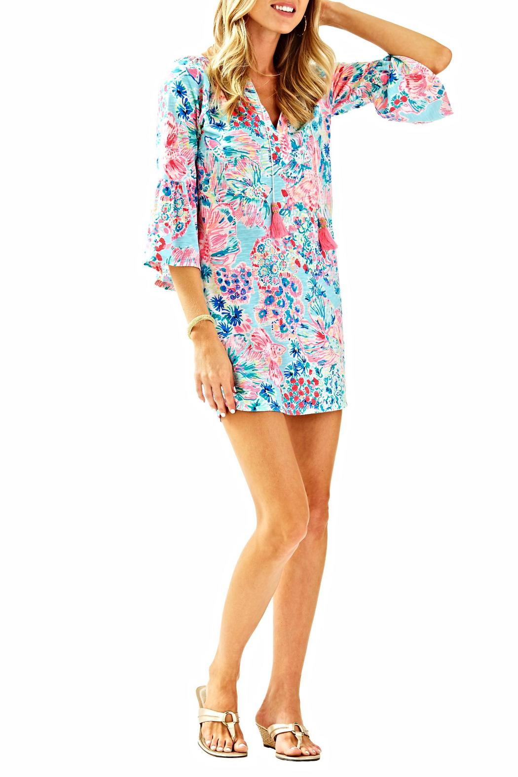 Lilly Pulitzer Del Lago Tunic Dress - Back Cropped Image