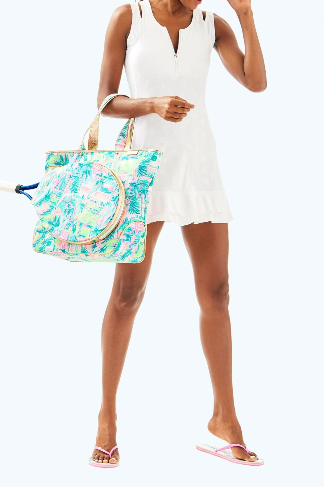 Lilly Pulitzer Delphina Tennis Dress - Back Cropped Image