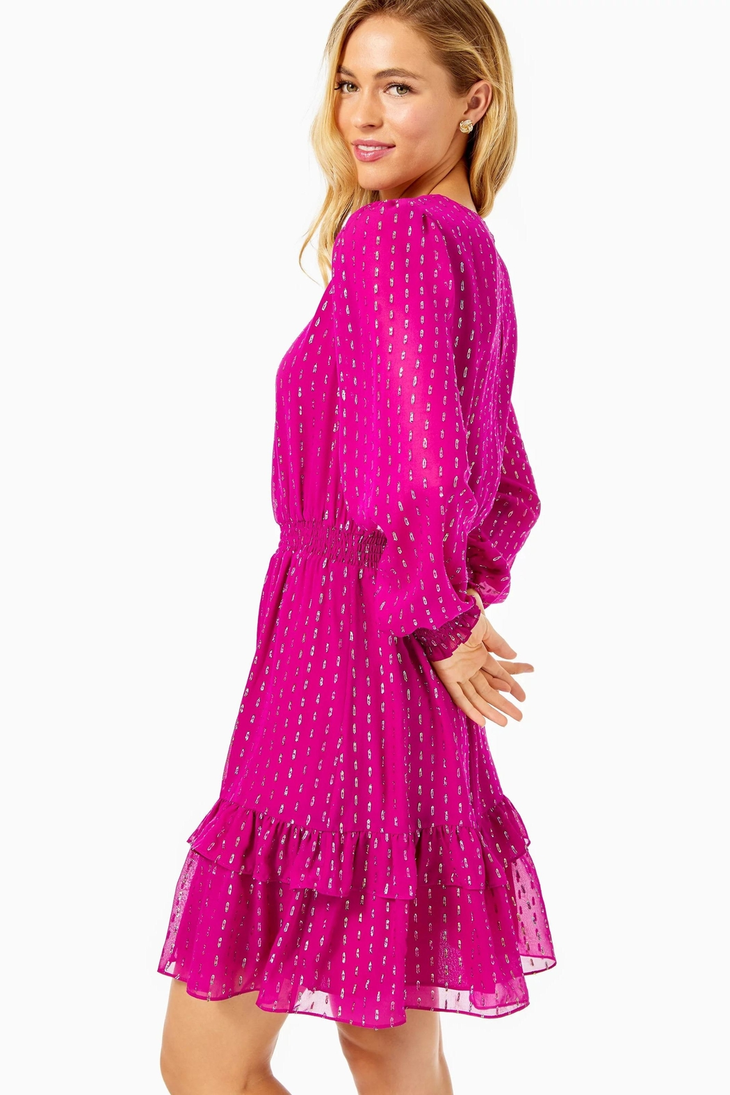 Lilly Pulitzer Dotti Ruffle Dress - Side Cropped Image