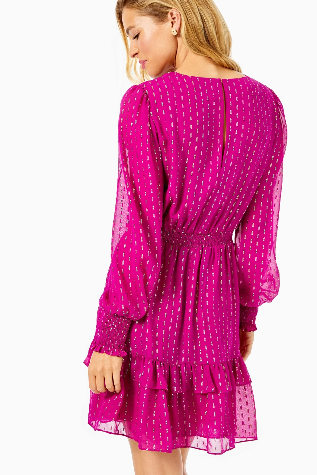 Lilly Pulitzer Dotti Ruffle Dress - Front Full Image