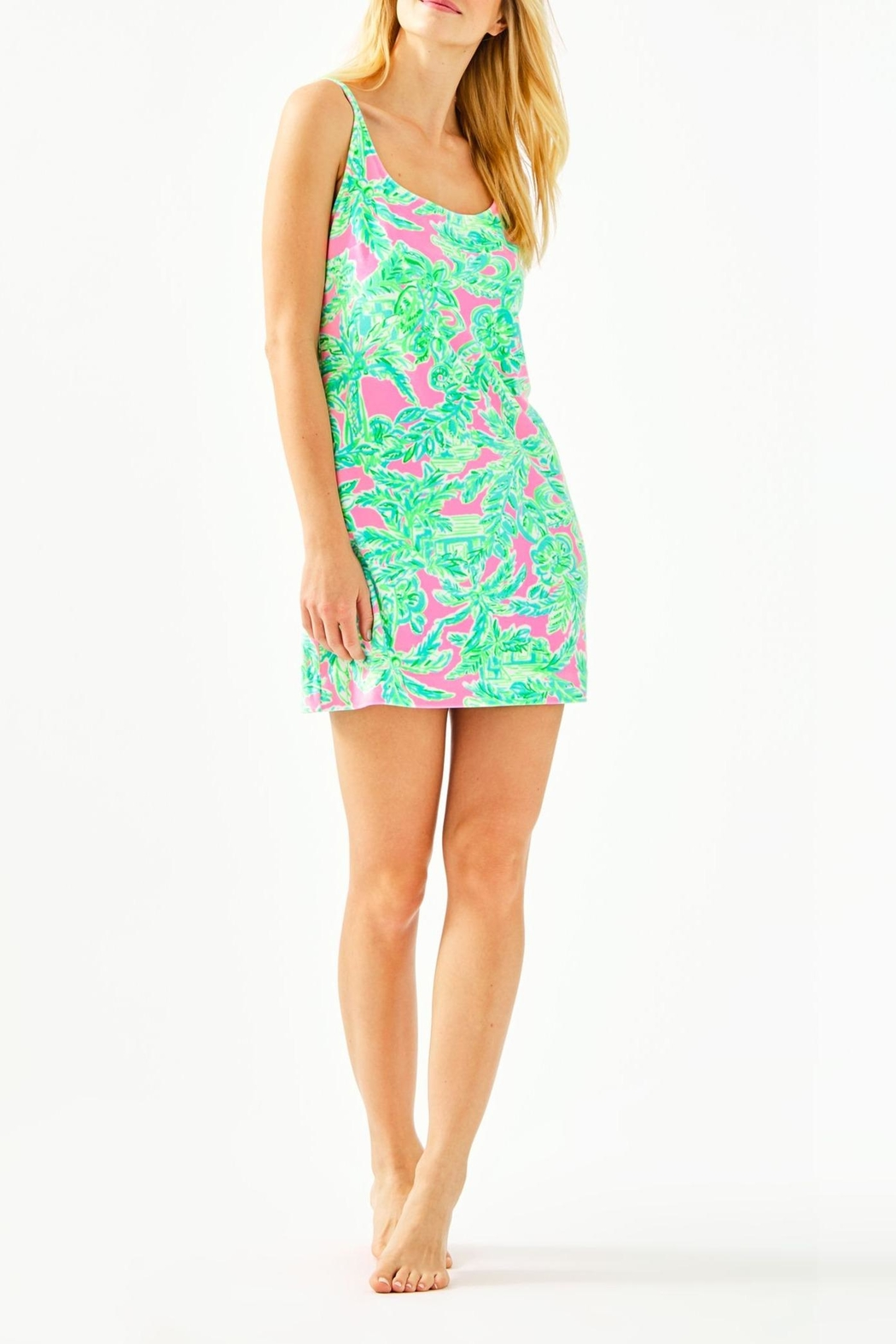 Lilly Pulitzer Dyanna Velour Chemise - Back Cropped Image