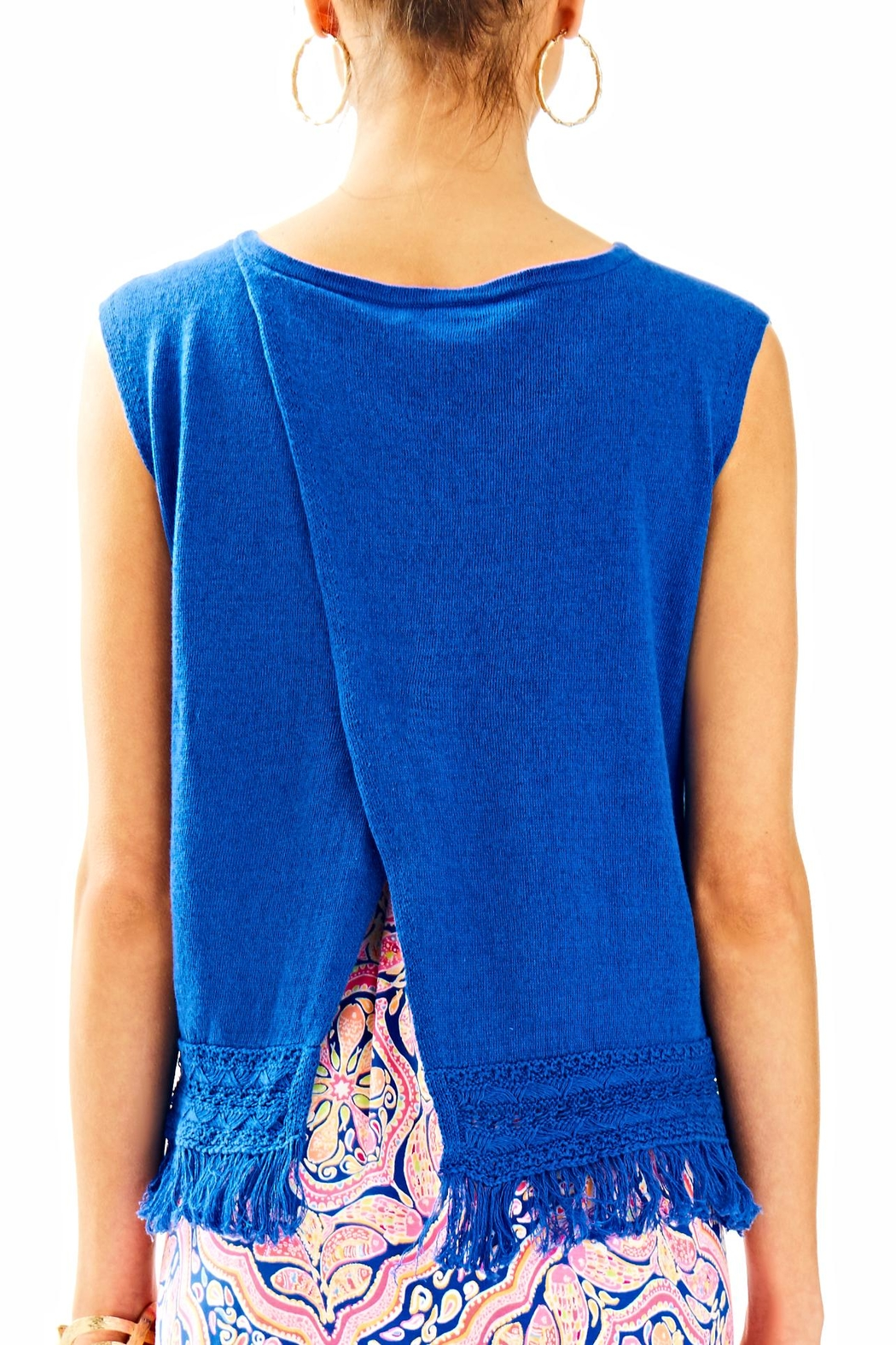 Lilly Pulitzer Edenwood Sweater Tank Top - Front Full Image