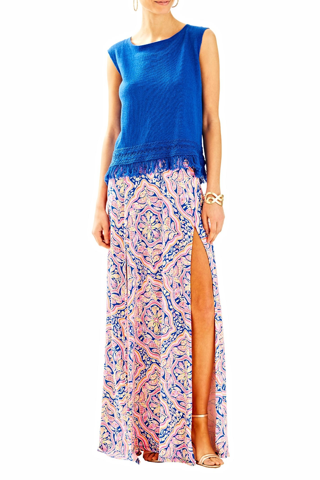 Lilly Pulitzer Edenwood Sweater Tank Top - Side Cropped Image