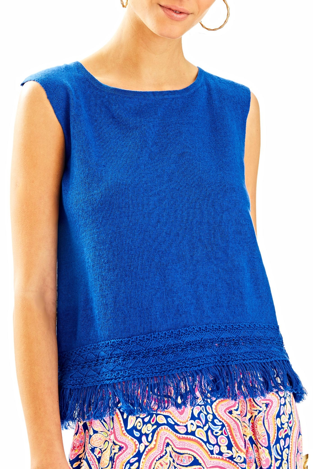 Lilly Pulitzer Edenwood Sweater Tank Top - Front Cropped Image