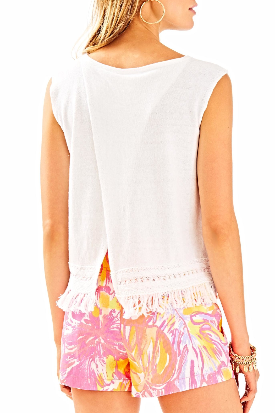 Lilly Pulitzer Edenwood Sweater Tank Top - Back Cropped Image