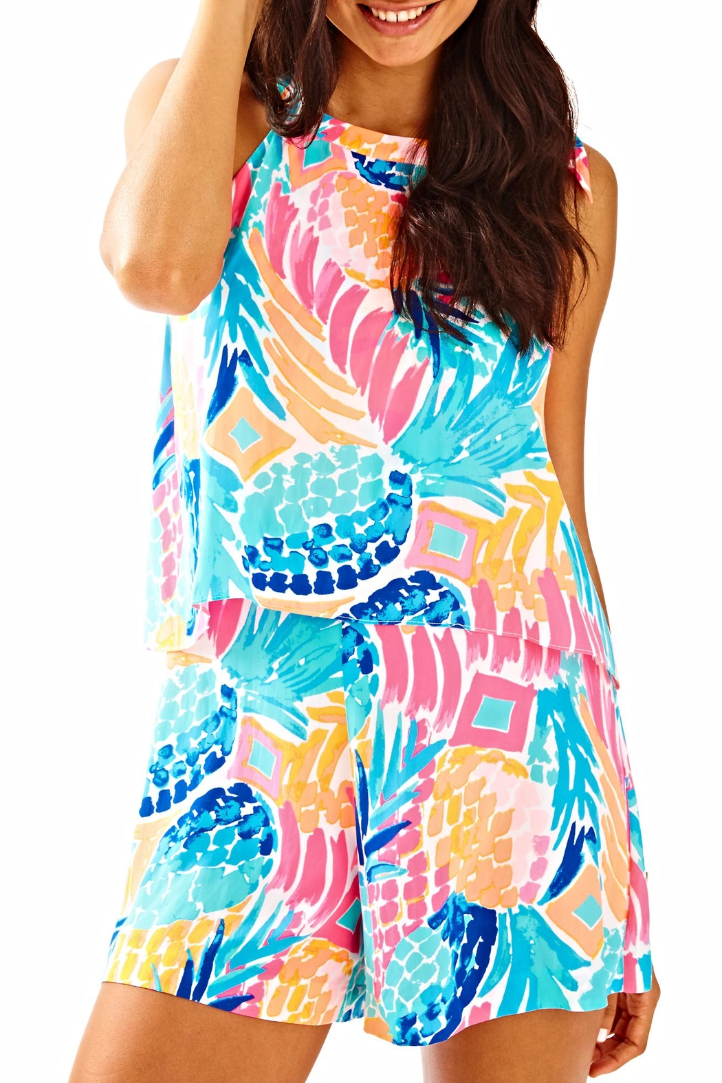 Lilly Pulitzer Edona Romper - Front Cropped Image