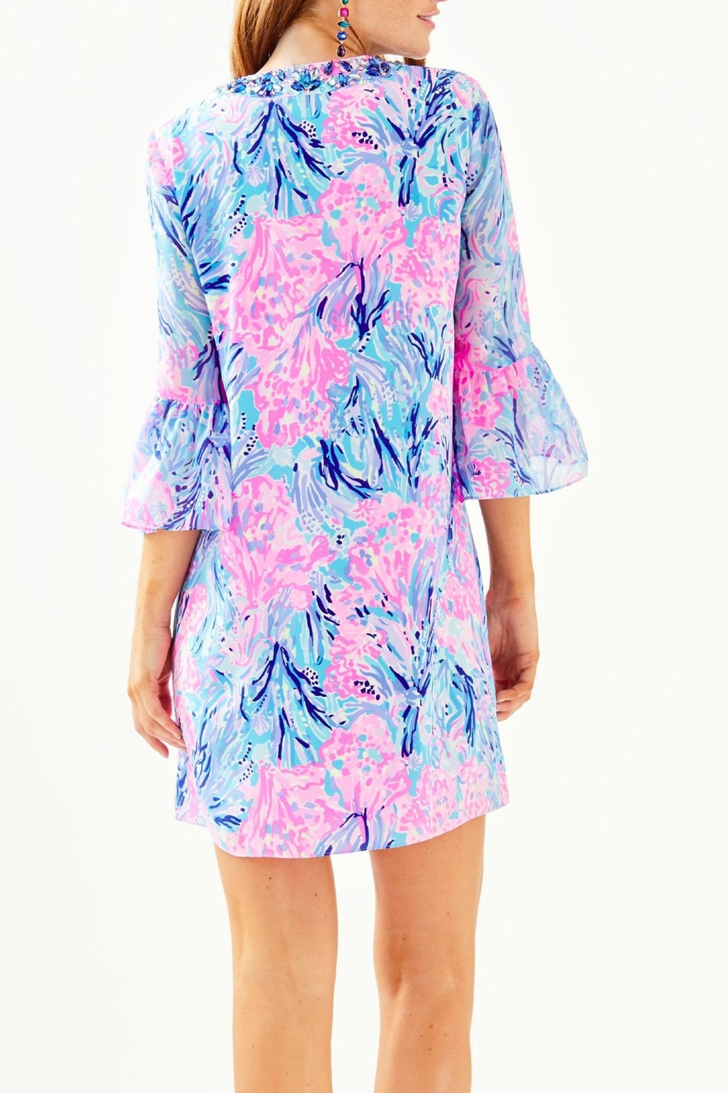 Lilly Pulitzer Elenora Silk Dress - Front Full Image