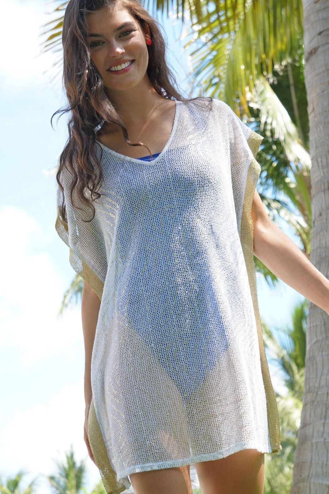 Lilly Pulitzer Ellio Mesh Cover-Up - Side Cropped Image