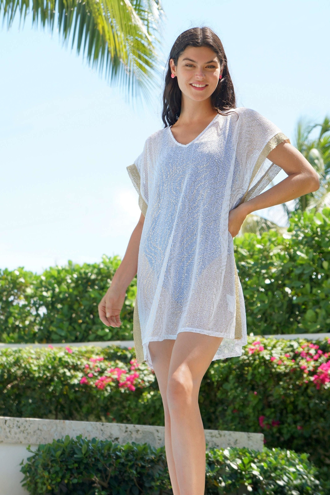 Lilly Pulitzer Ellio Mesh Cover-Up - Back Cropped Image