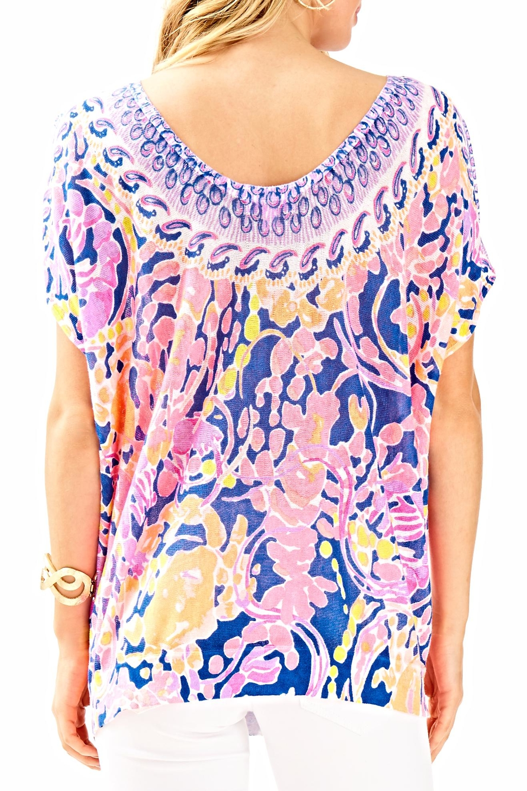 Lilly Pulitzer Elliston Blouse - Front Full Image