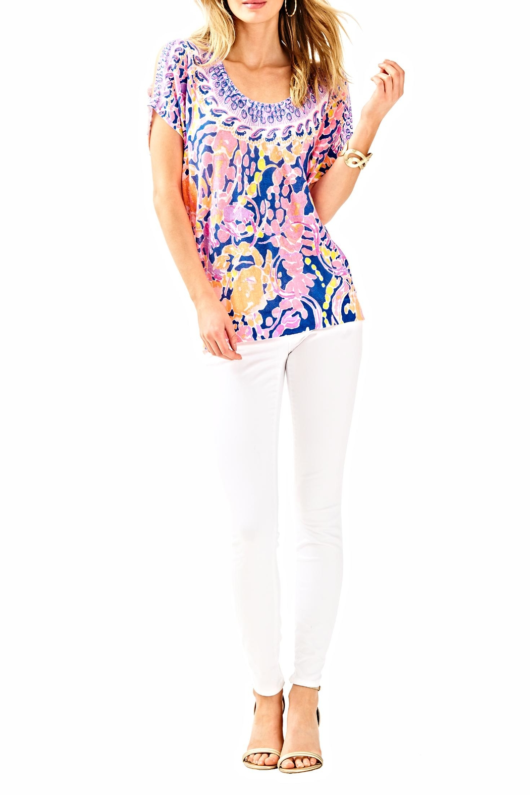 Lilly Pulitzer Elliston Blouse - Side Cropped Image