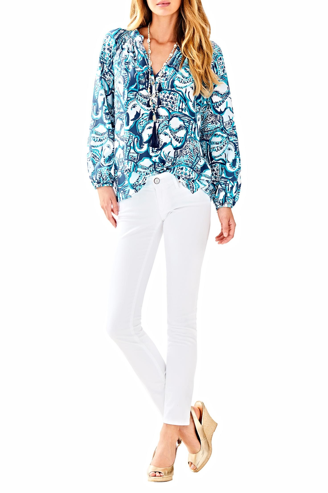 Lilly Pulitzer Elsa Top - Side Cropped Image