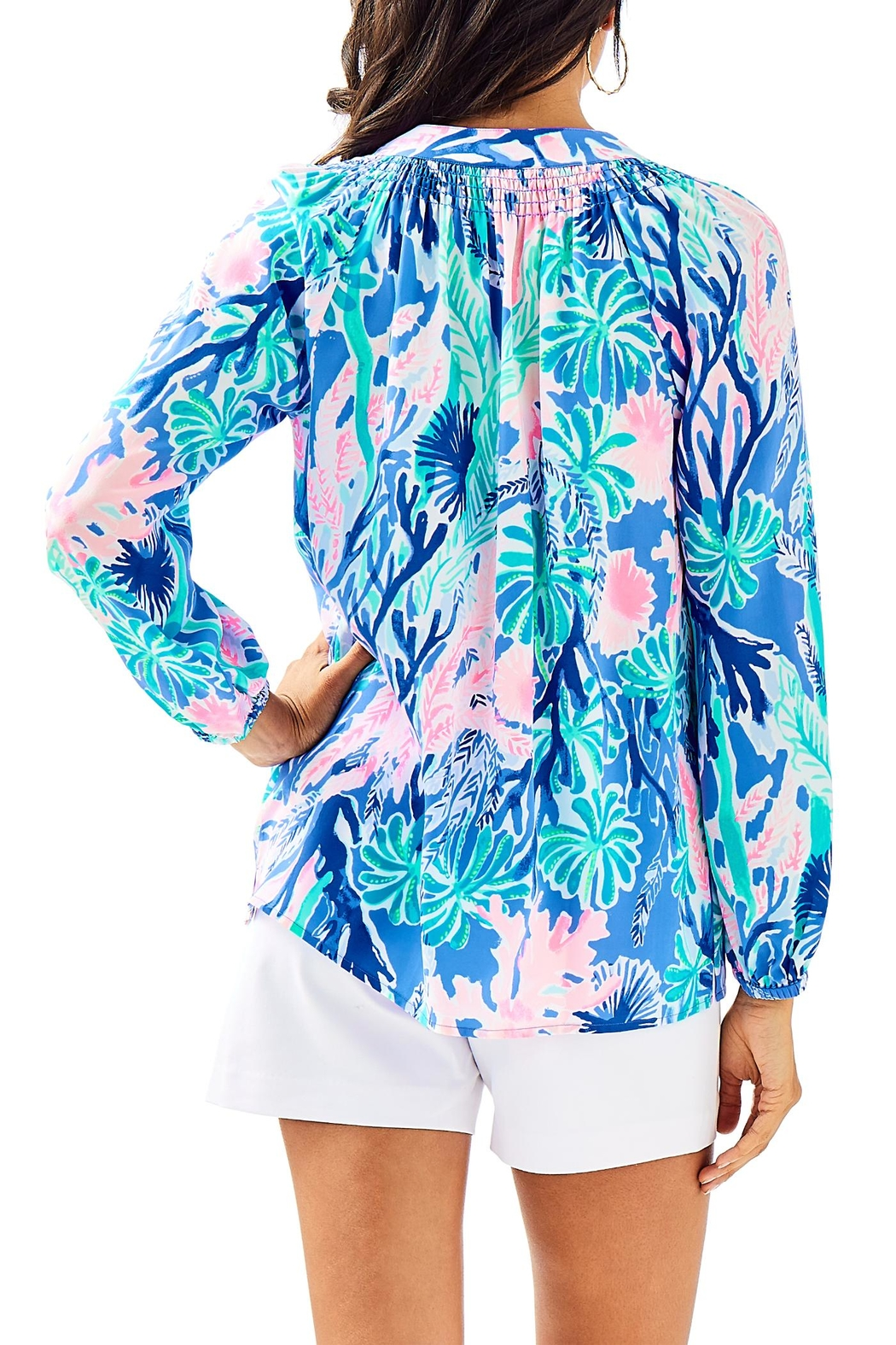 Lilly Pulitzer Elsa Silk Top - Front Full Image