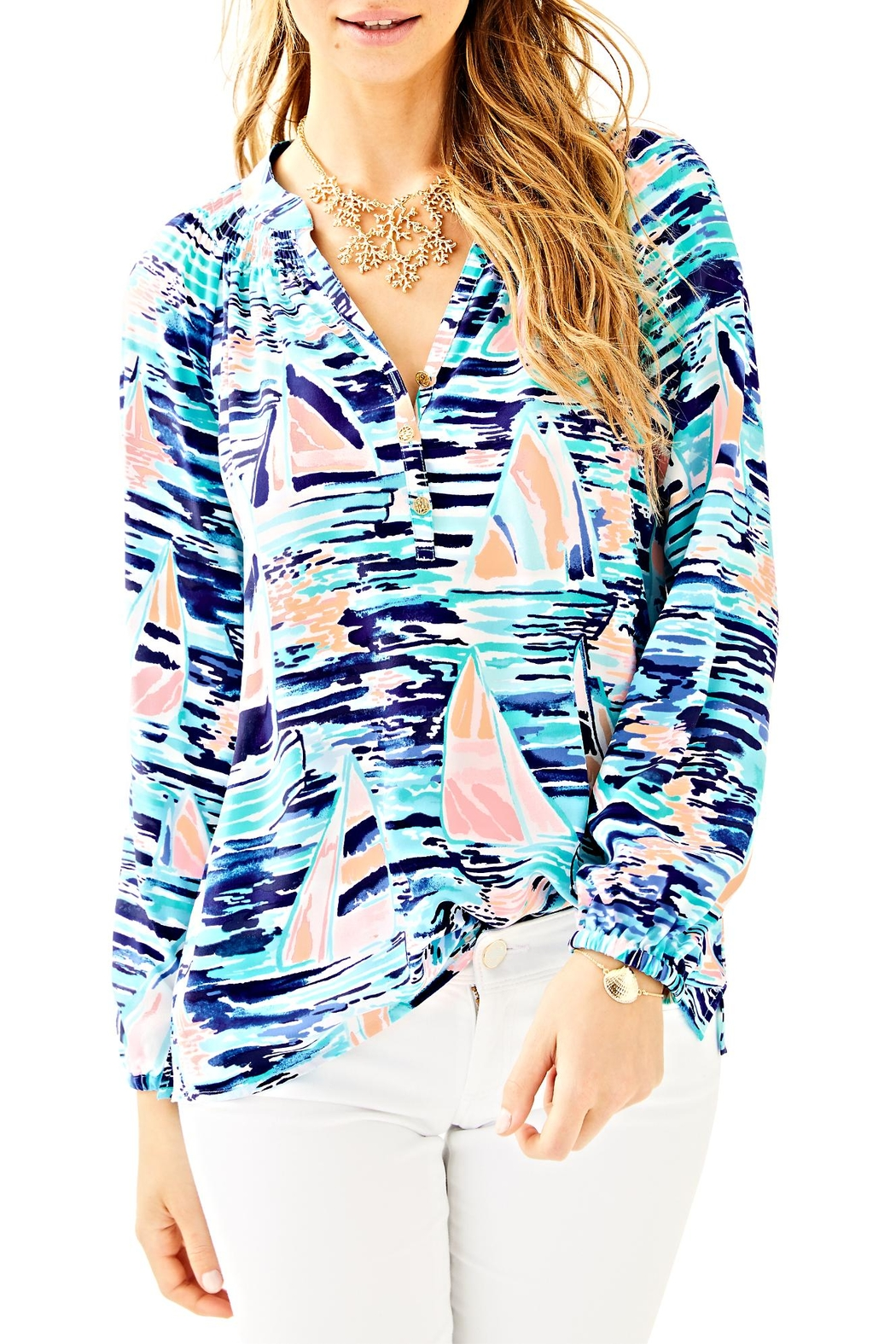 Lilly Pulitzer Elsa Silk Top - Main Image