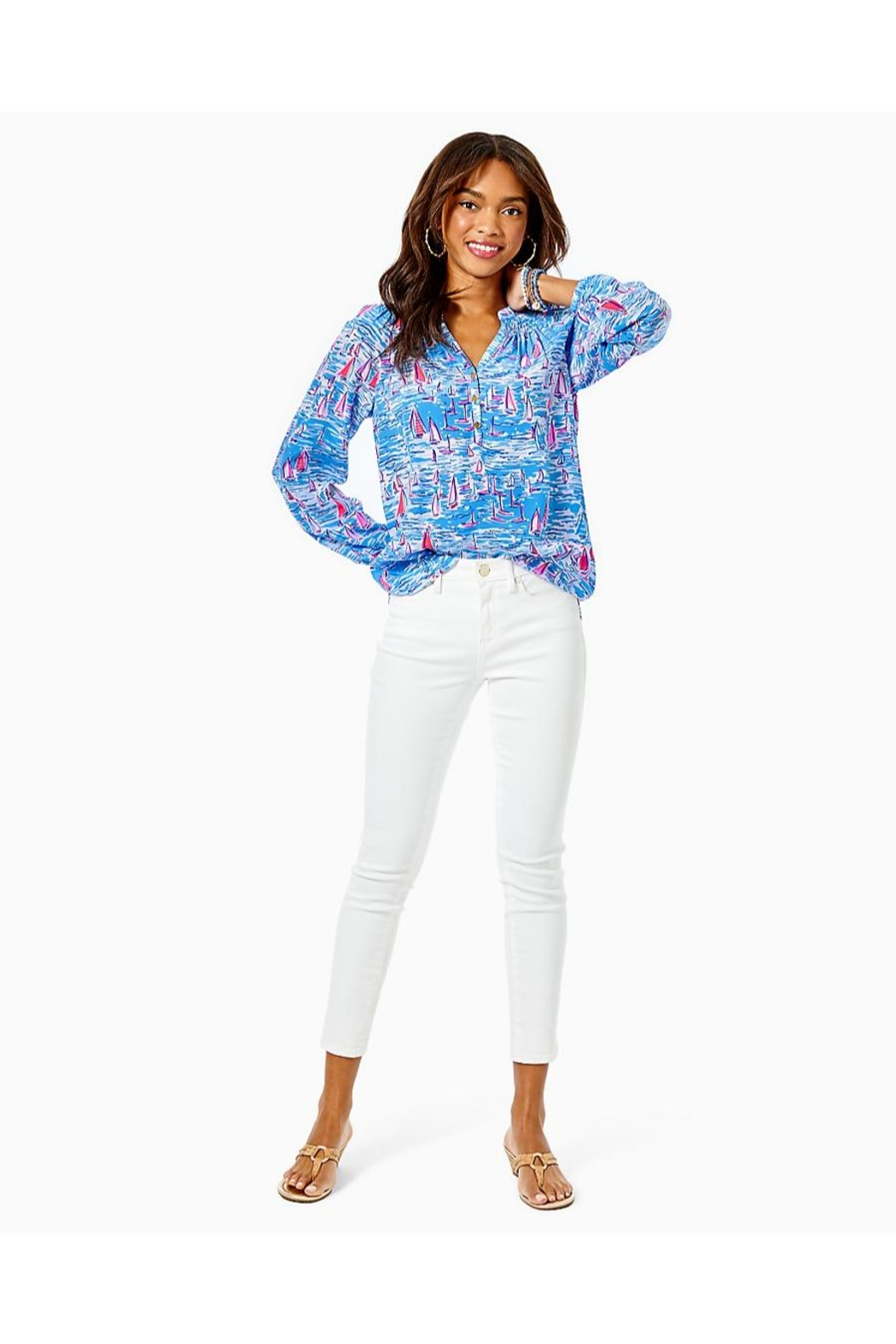 Lilly Pulitzer Elsa Silk Top - Side Cropped Image