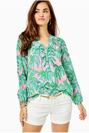 Lilly Pulitzer Elsa Silk Top - Front cropped