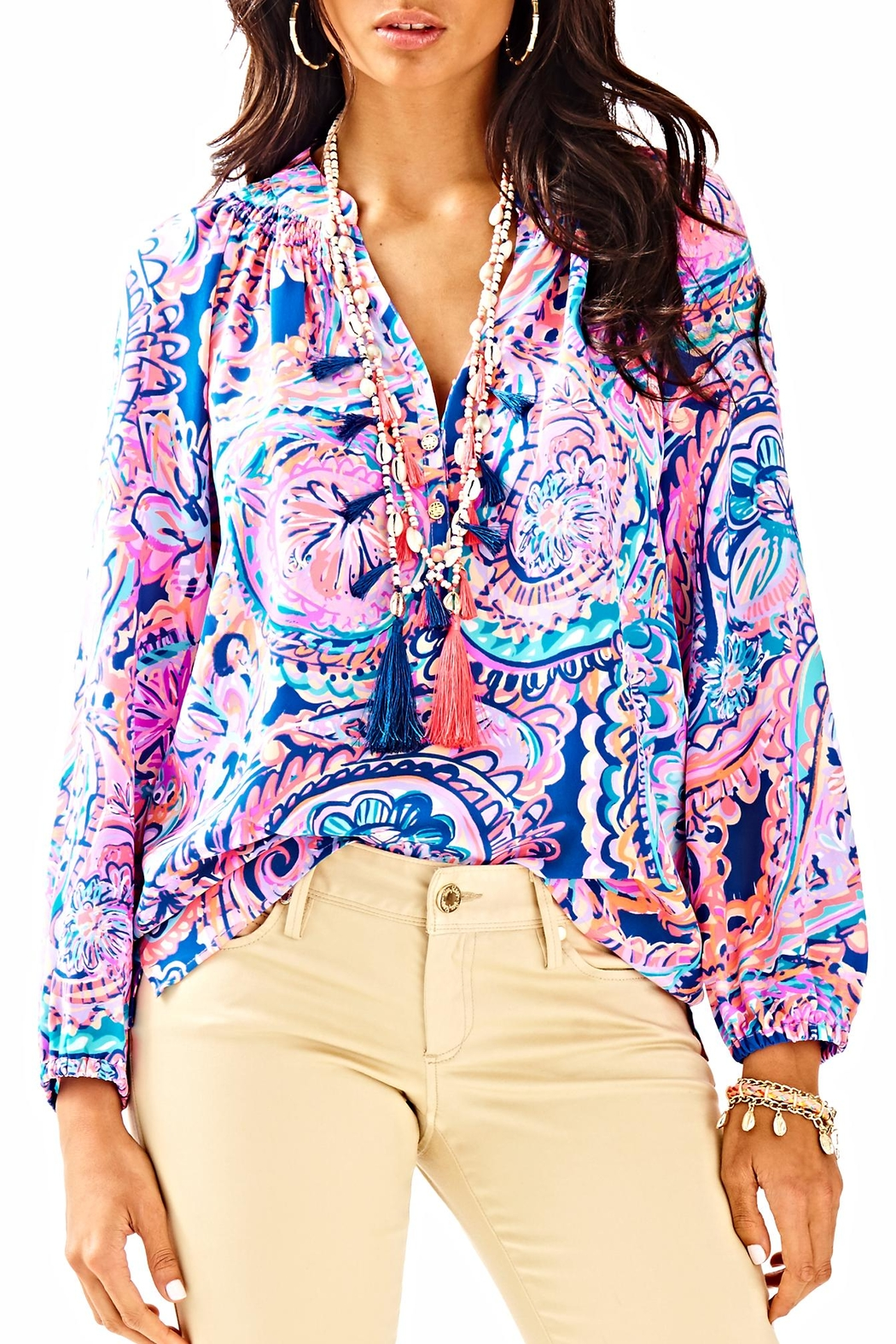 Lilly Pulitzer Elsa Top - Front Cropped Image