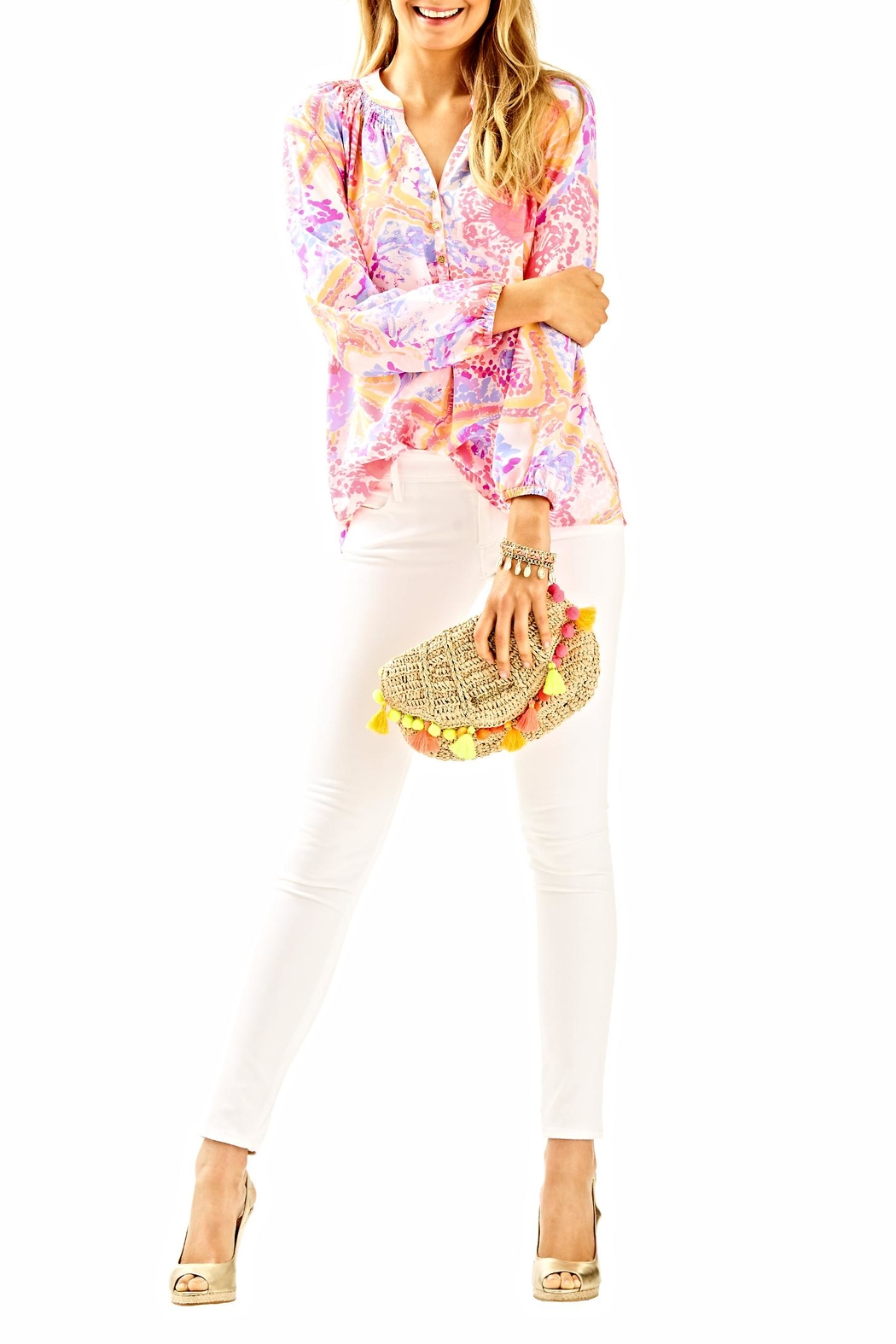 Lilly Pulitzer Elsa Long Sleeve Top - Side Cropped Image