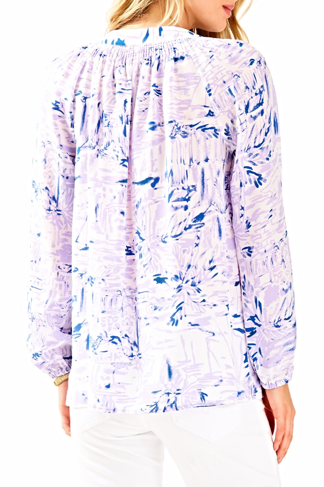 Lilly Pulitzer Elsa Long Sleeve Top - Front Full Image