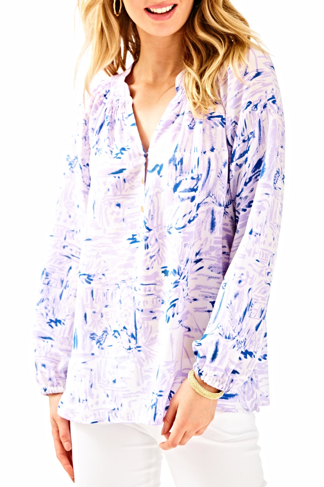 Lilly Pulitzer Elsa Long Sleeve Top - Main Image