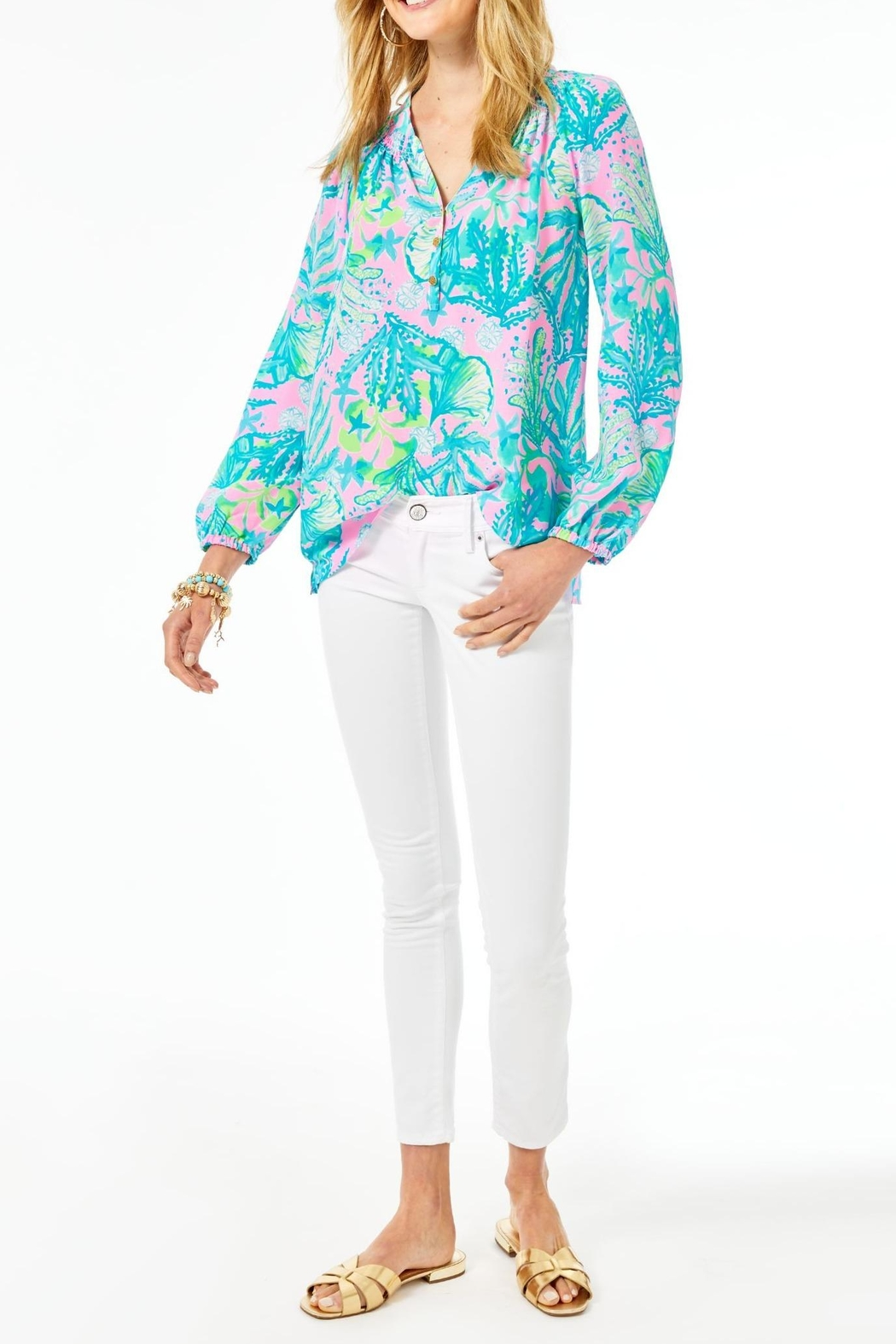 Lilly Pulitzer Elsa Top - Back Cropped Image