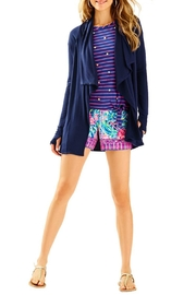 Lilly Pulitzer Elyssa Wrap Navy - Front cropped