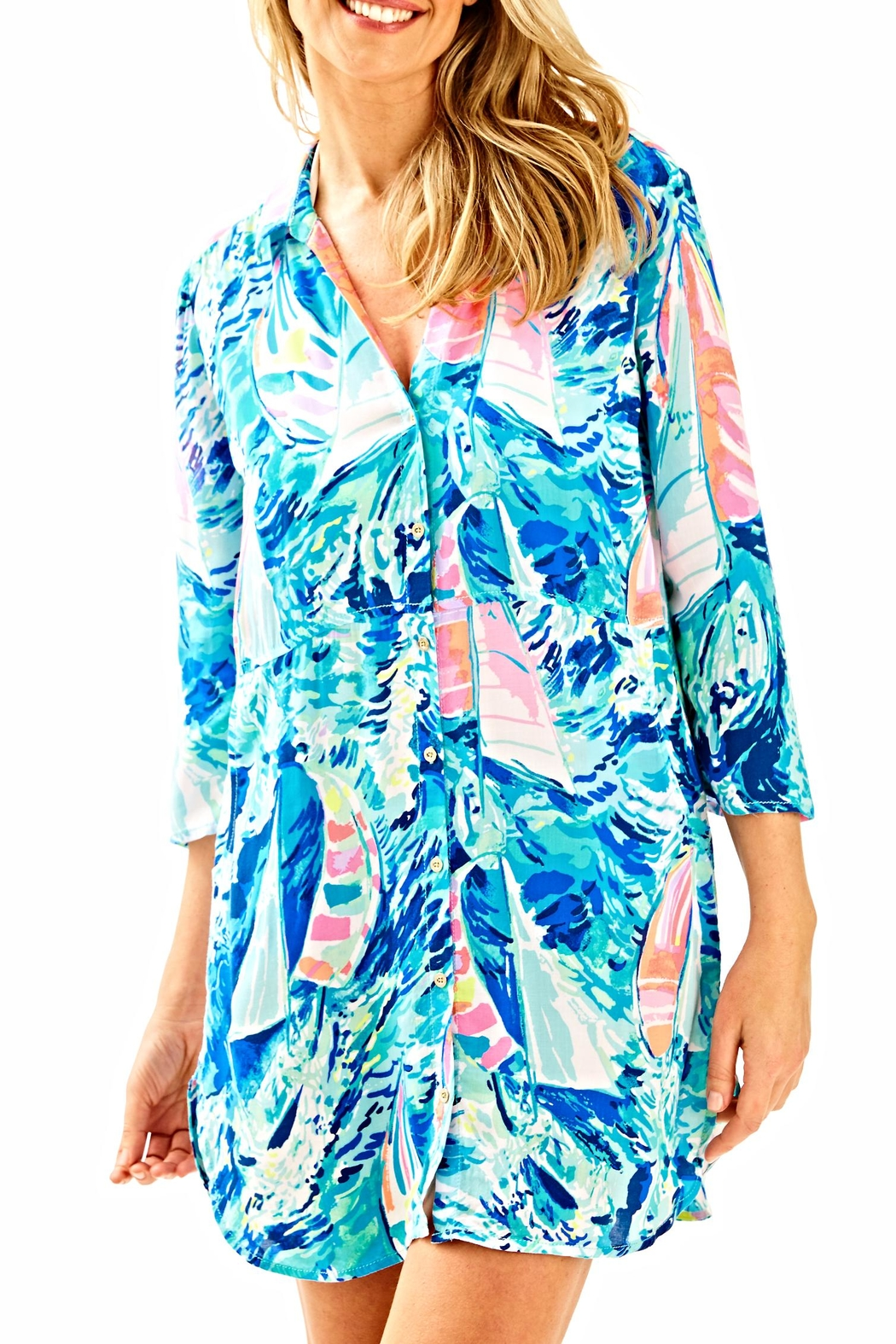 644df977d67553 Lilly Pulitzer Emerald Beach Cover Up Tunic from Sandestin Golf and ...