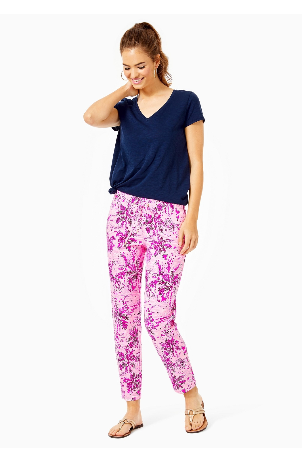 Lilly Pulitzer Emora Knit Pant - Front Cropped Image