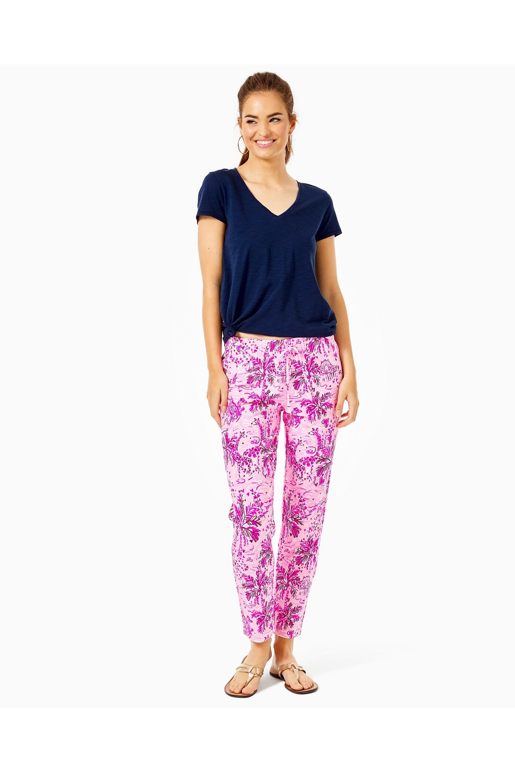 Lilly Pulitzer Emora Knit Pant - Back Cropped Image