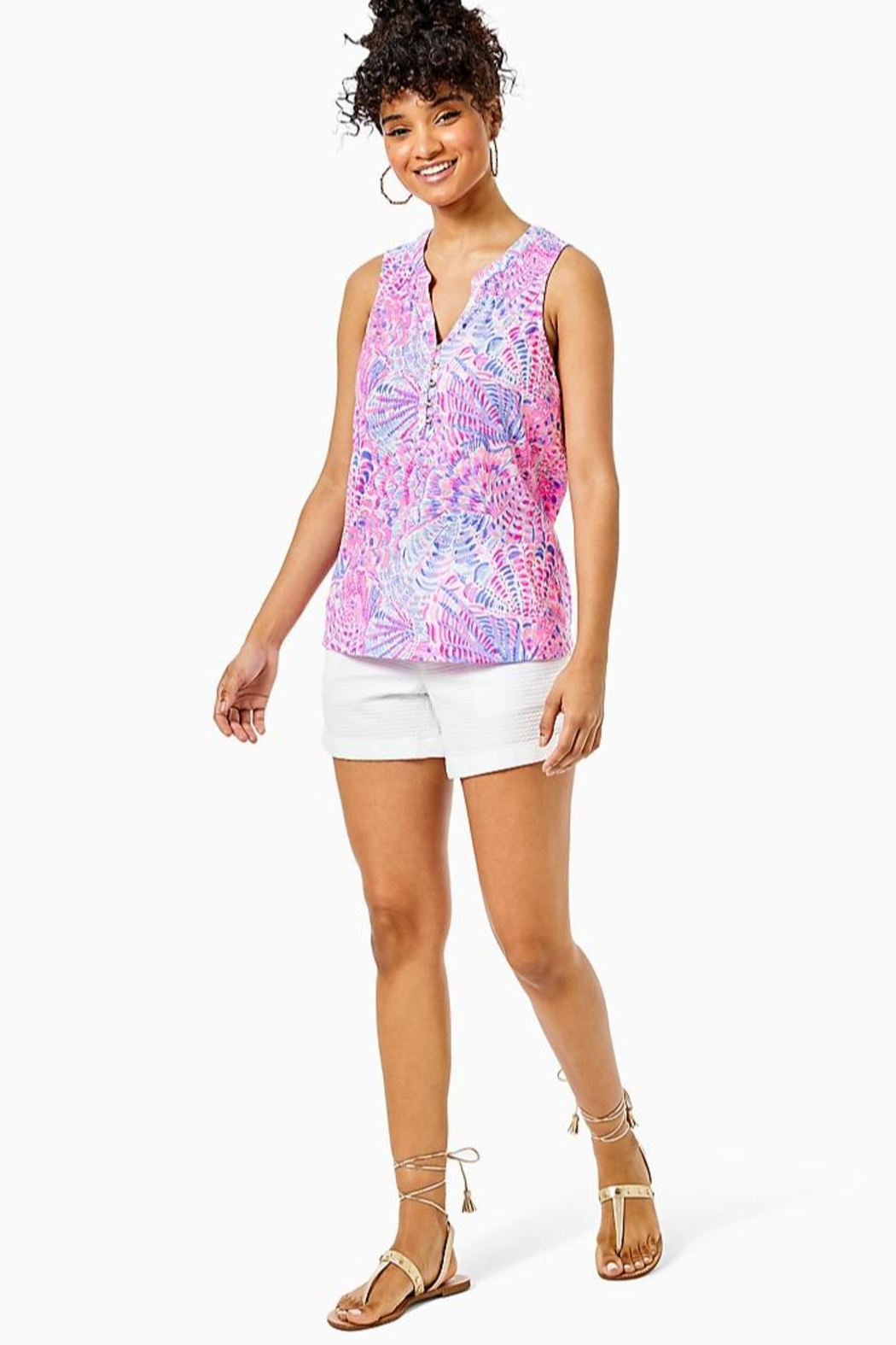 Lilly Pulitzer Essie Tank Top - Back Cropped Image