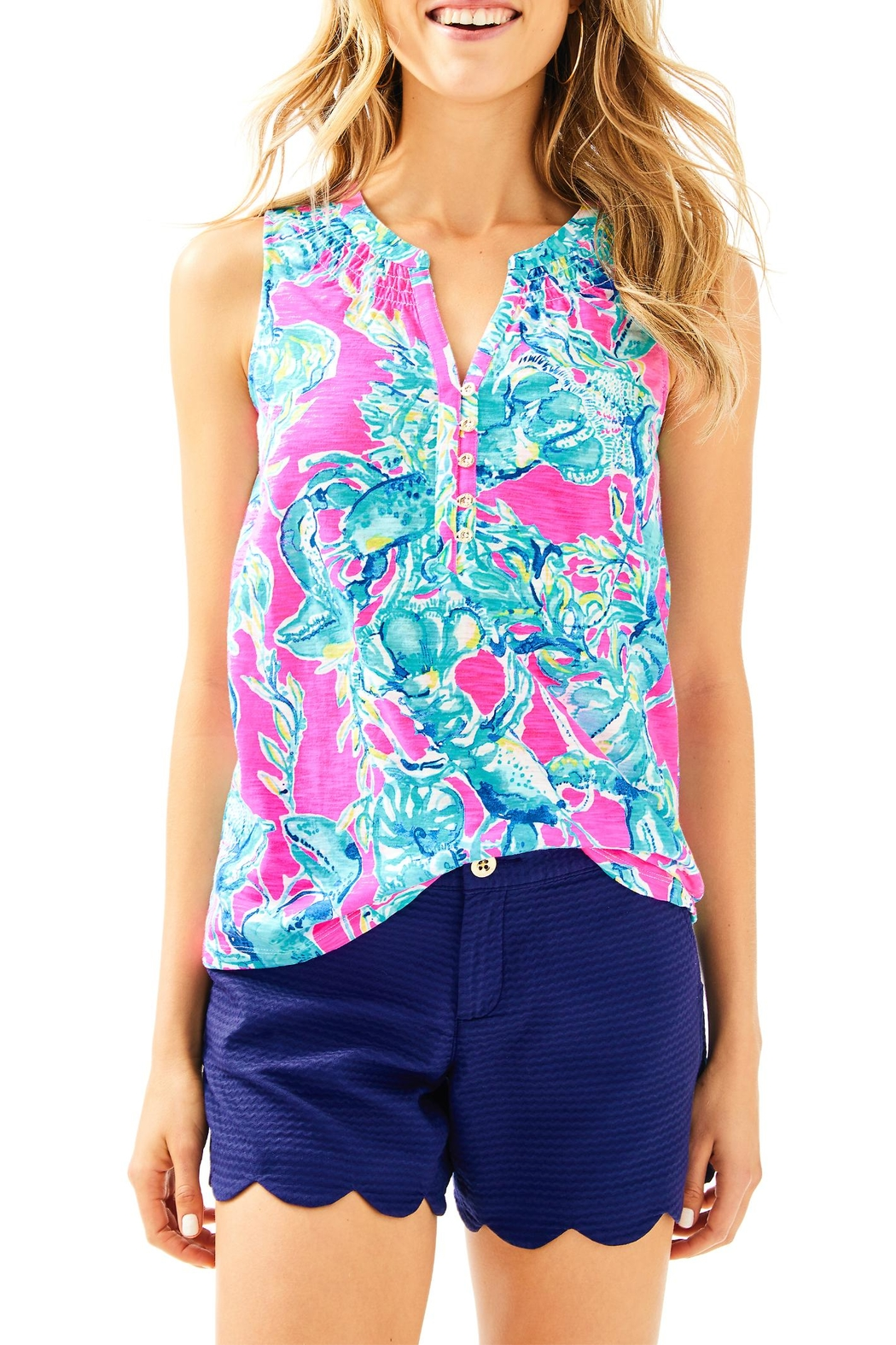 Lilly Pulitzer Essie Top - Front Cropped Image