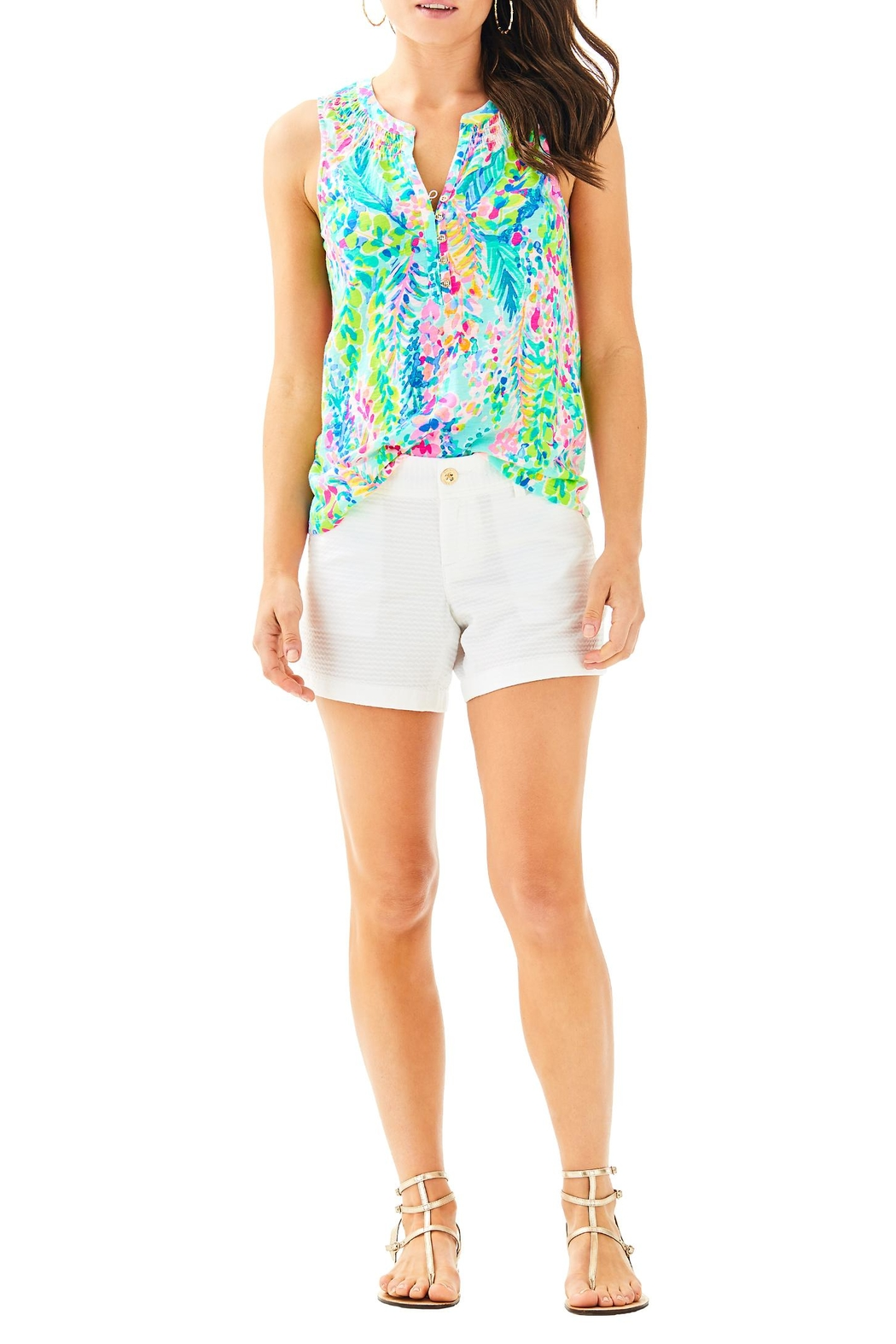Lilly Pulitzer Essie Top - Side Cropped Image