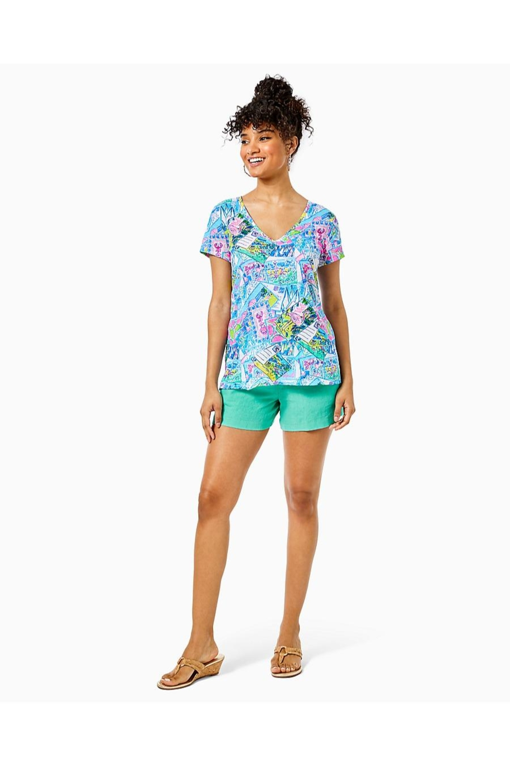 Lilly Pulitzer Etta Top - Side Cropped Image