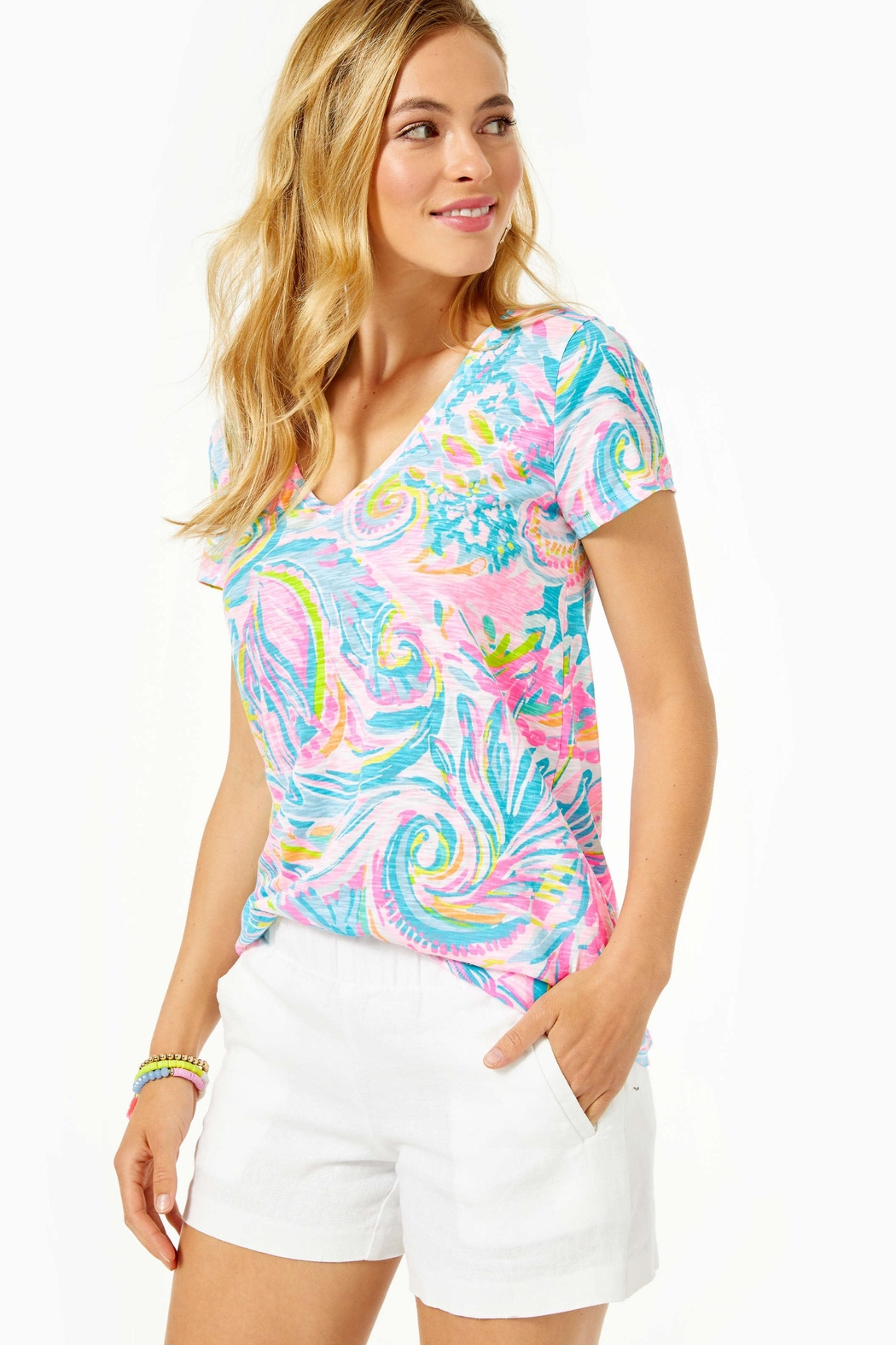 Lilly Pulitzer Etta Top - Front Cropped Image