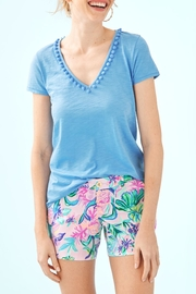 Lilly Pulitzer Etta Pom-Pom Top - Product Mini Image