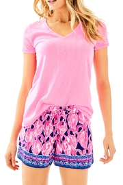 Lilly Pulitzer Etta V-Neck Top - Product Mini Image