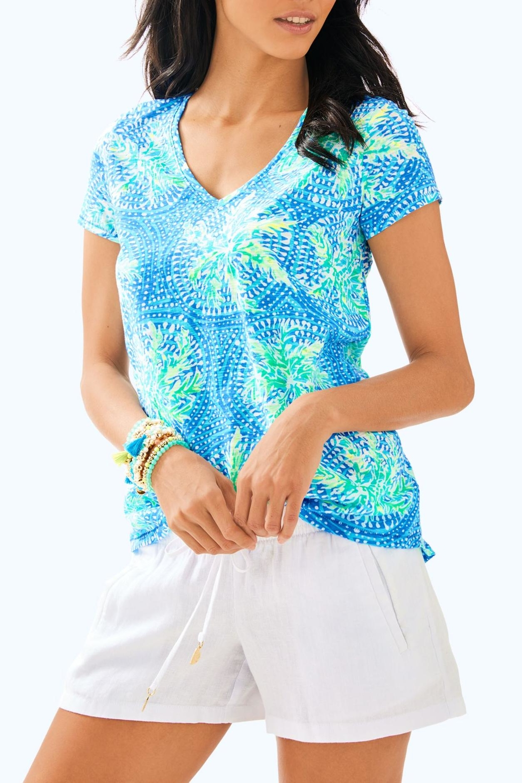 Lilly Pulitzer Etta V-Neck Top - Main Image