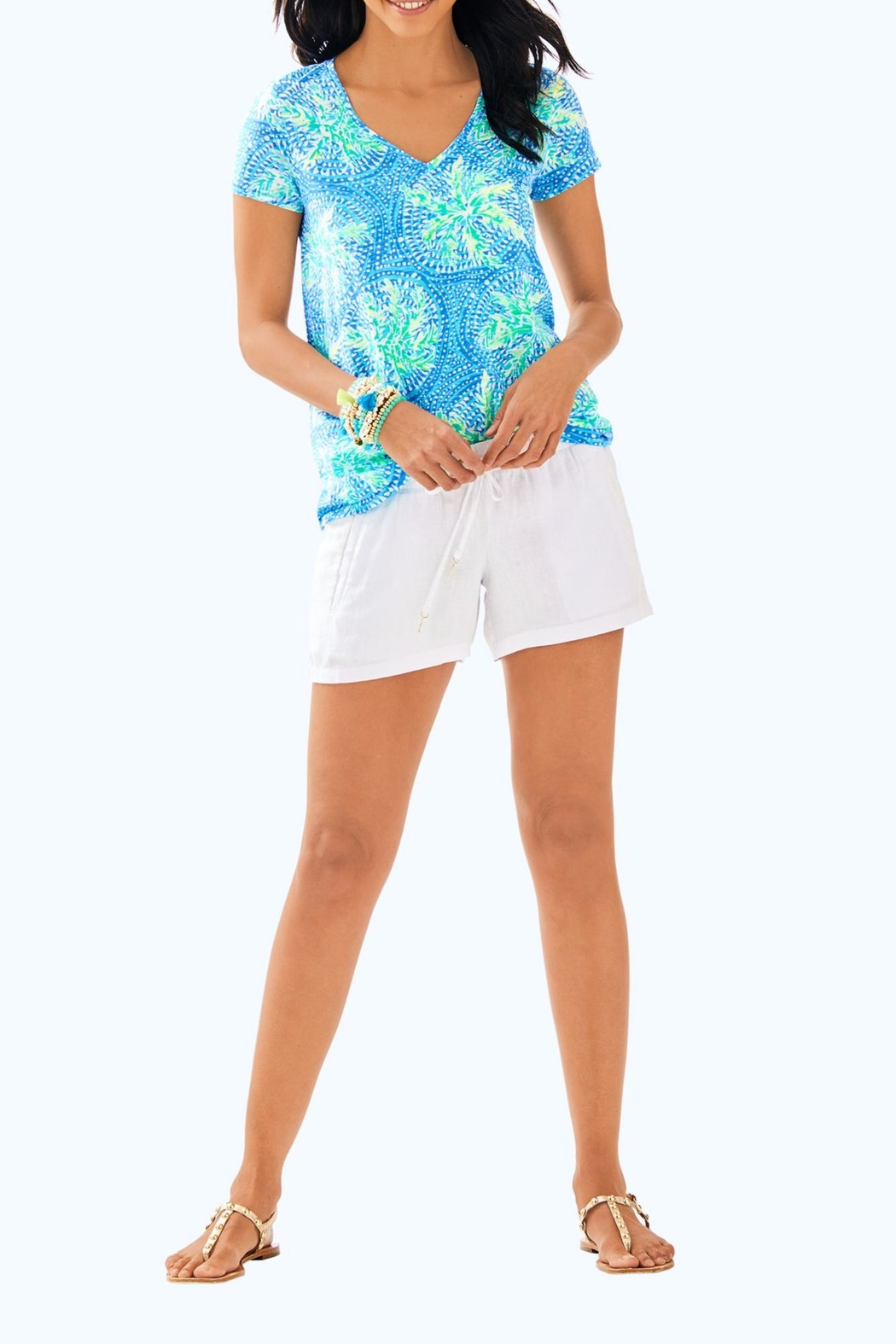 Lilly Pulitzer Etta V-Neck Top - Side Cropped Image