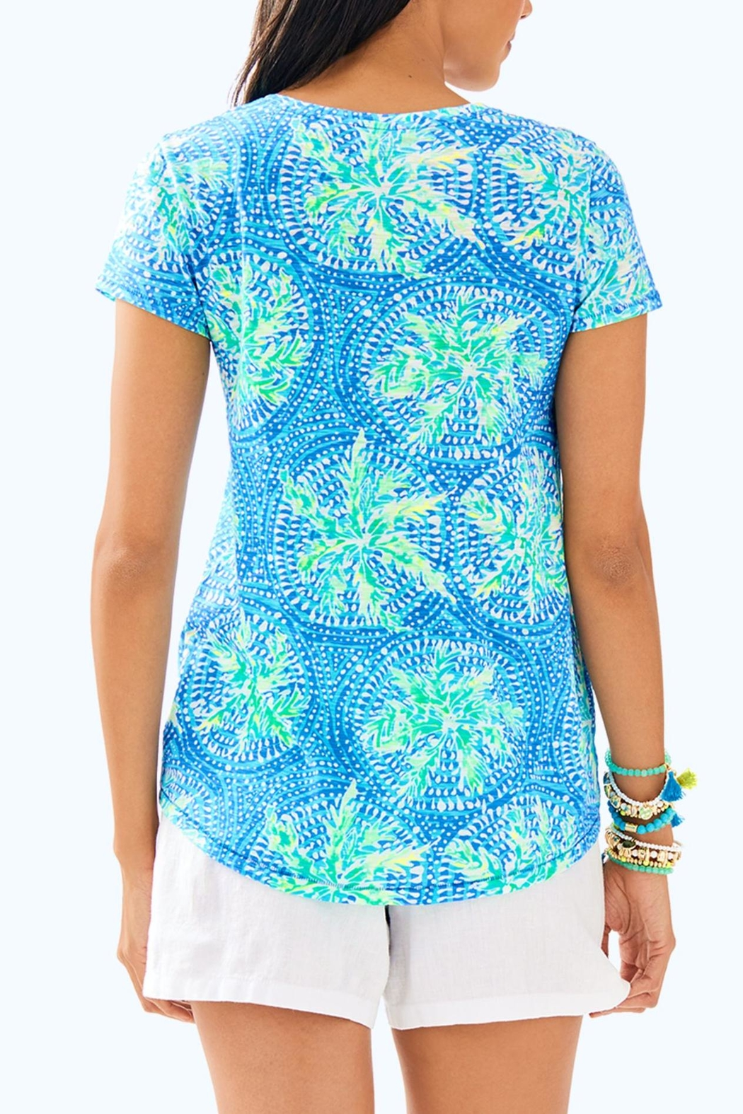 Lilly Pulitzer Etta V-Neck Top - Front Full Image
