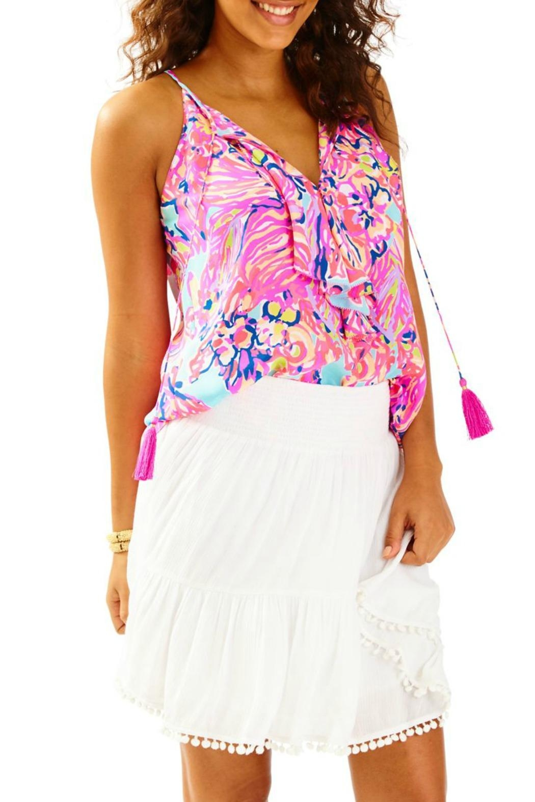 Lilly Pulitzer Evelyn White Skirt - Main Image