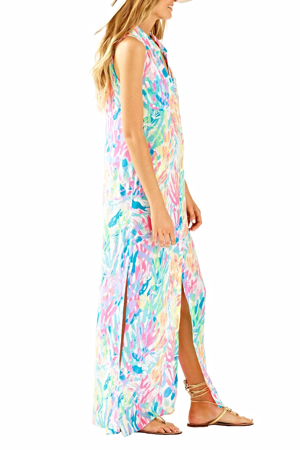 Lilly Pulitzer Ezra Maxi Beach Dress - Side Cropped Image
