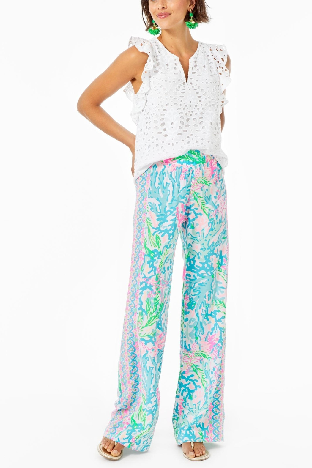 Lilly Pulitzer Faun Top - Back Cropped Image