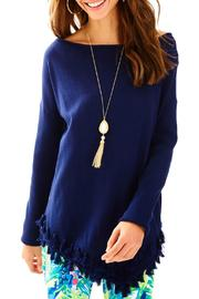 Lilly Pulitzer Ferrera Navy Sweater - Product Mini Image