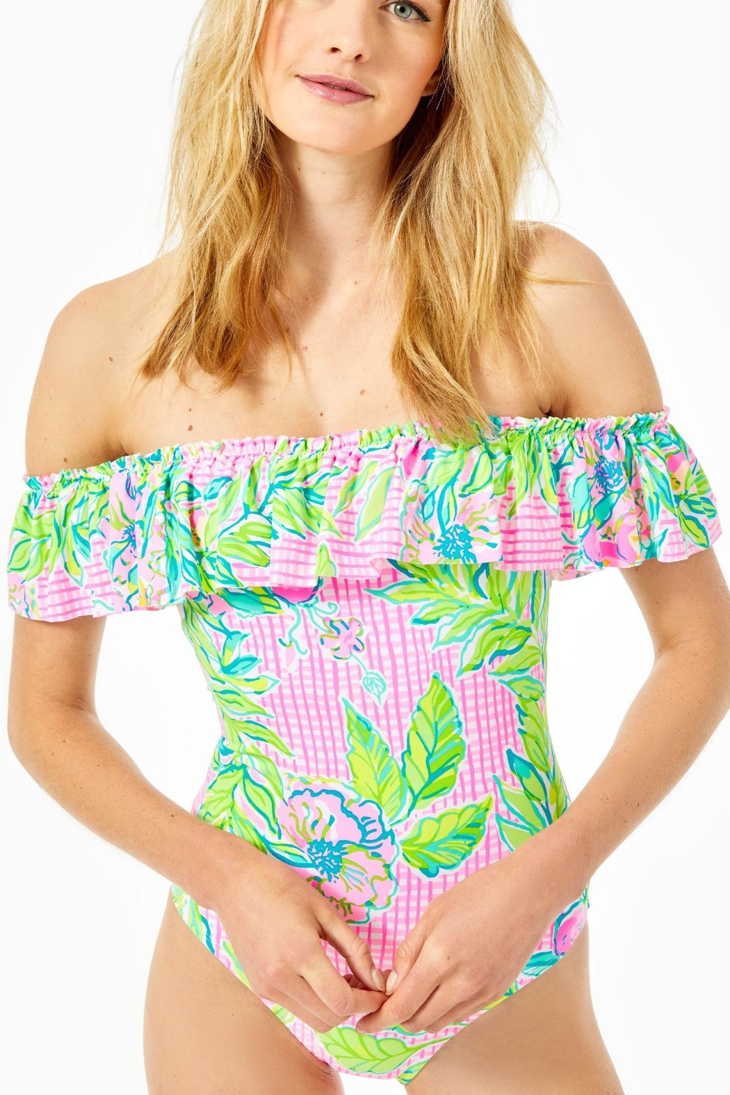 Lilly Pulitzer Fiesta One Piece - Front Full Image