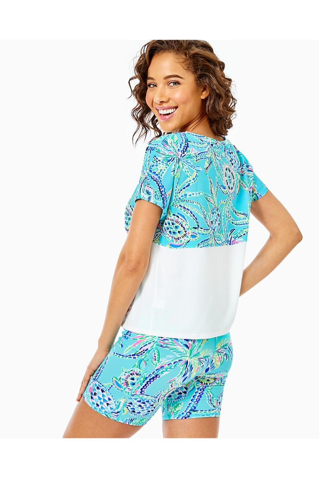 Lilly Pulitzer Finn Cropped Top - Front Full Image
