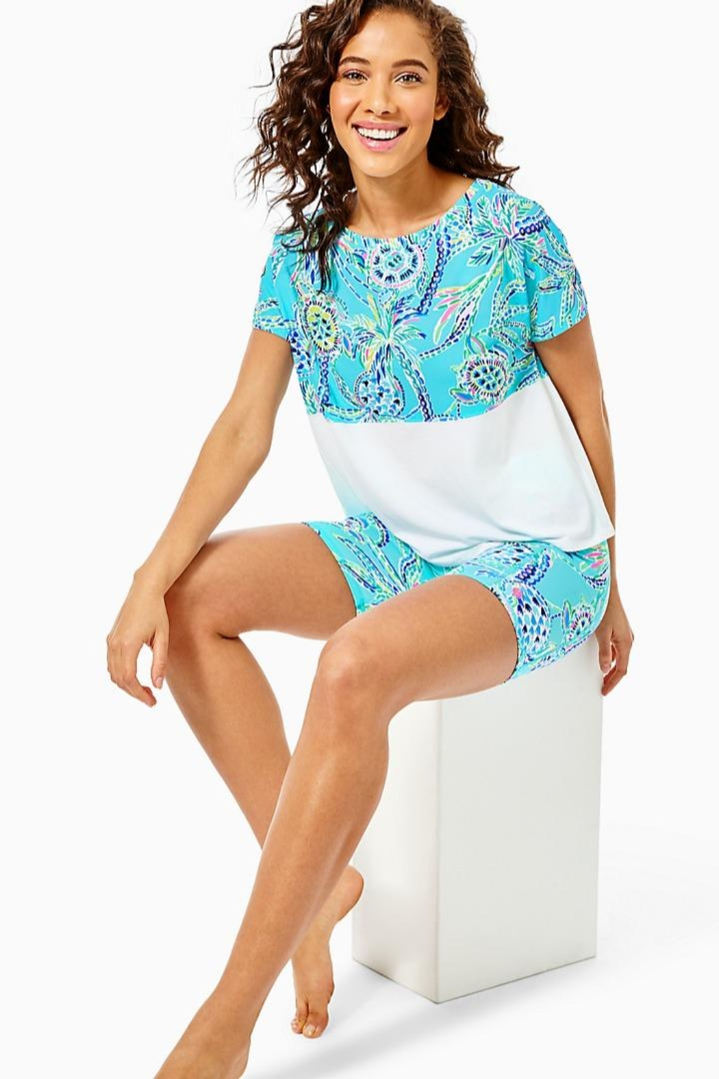 Lilly Pulitzer Finn Cropped Top - Main Image
