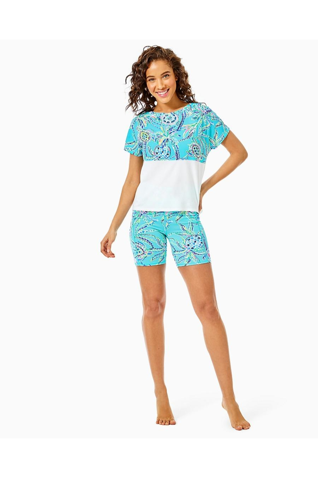 Lilly Pulitzer Finn Cropped Top - Back Cropped Image