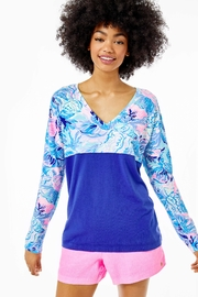 Lilly Pulitzer Finn V-Neck Top - Product Mini Image