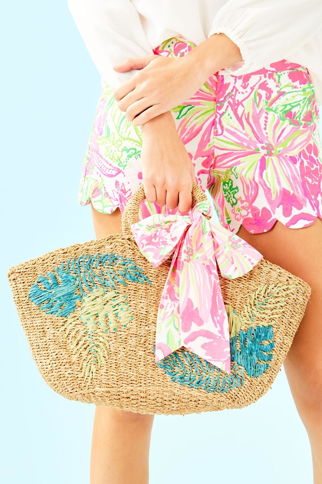 Lilly Pulitzer Flora Straw Tote - Main Image