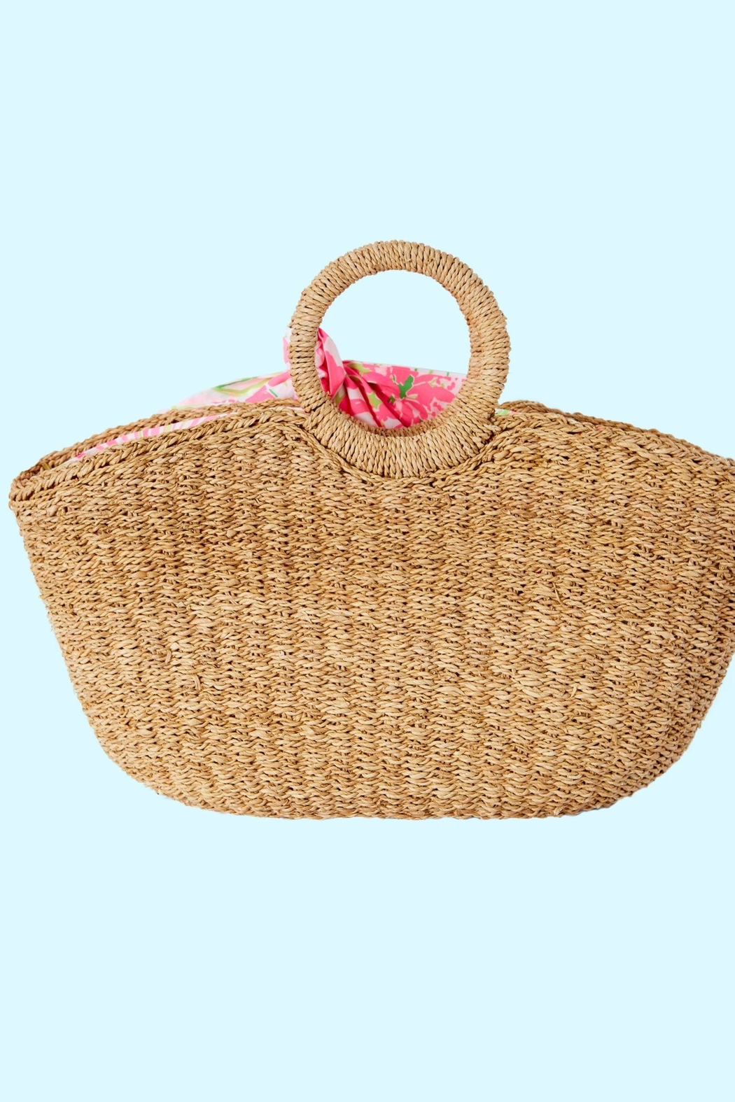 Lilly Pulitzer Flora Straw Tote - Back Cropped Image